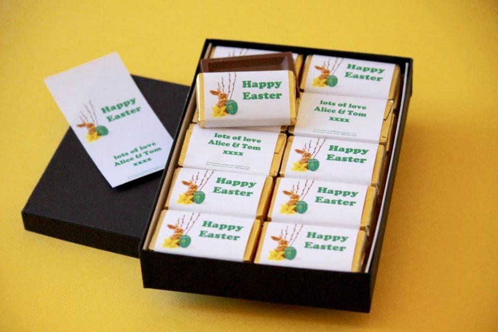 Easter box of chocolate bars