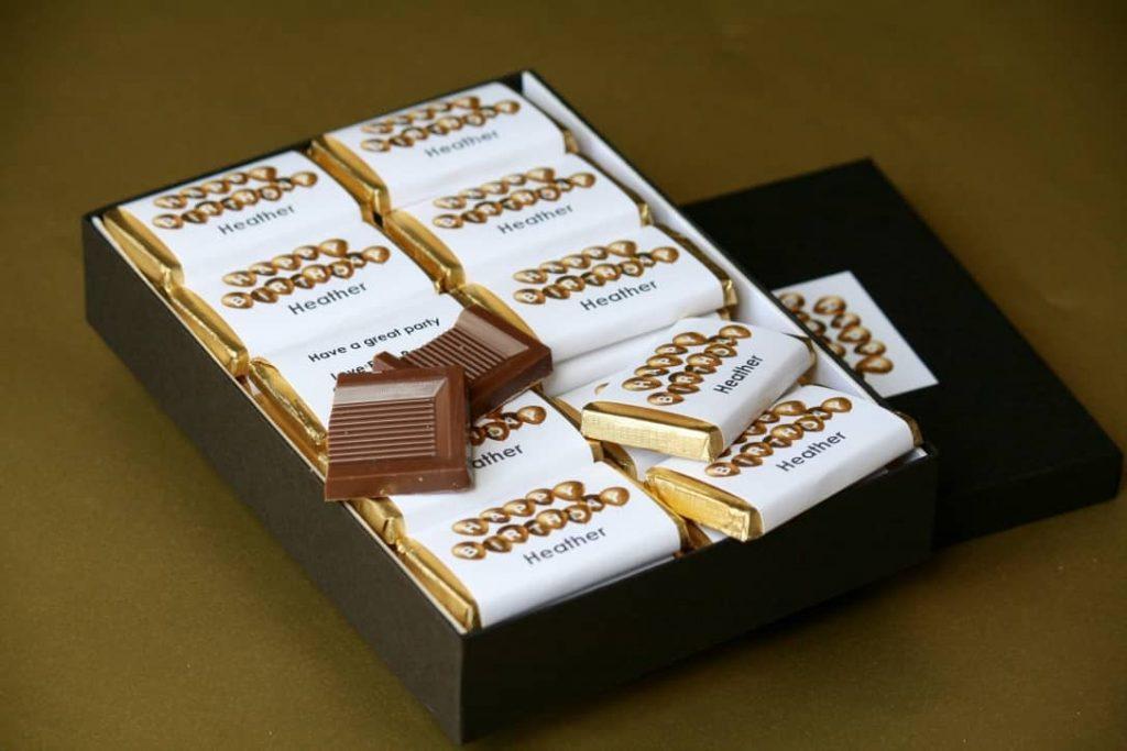 Personalised birthday chocolate