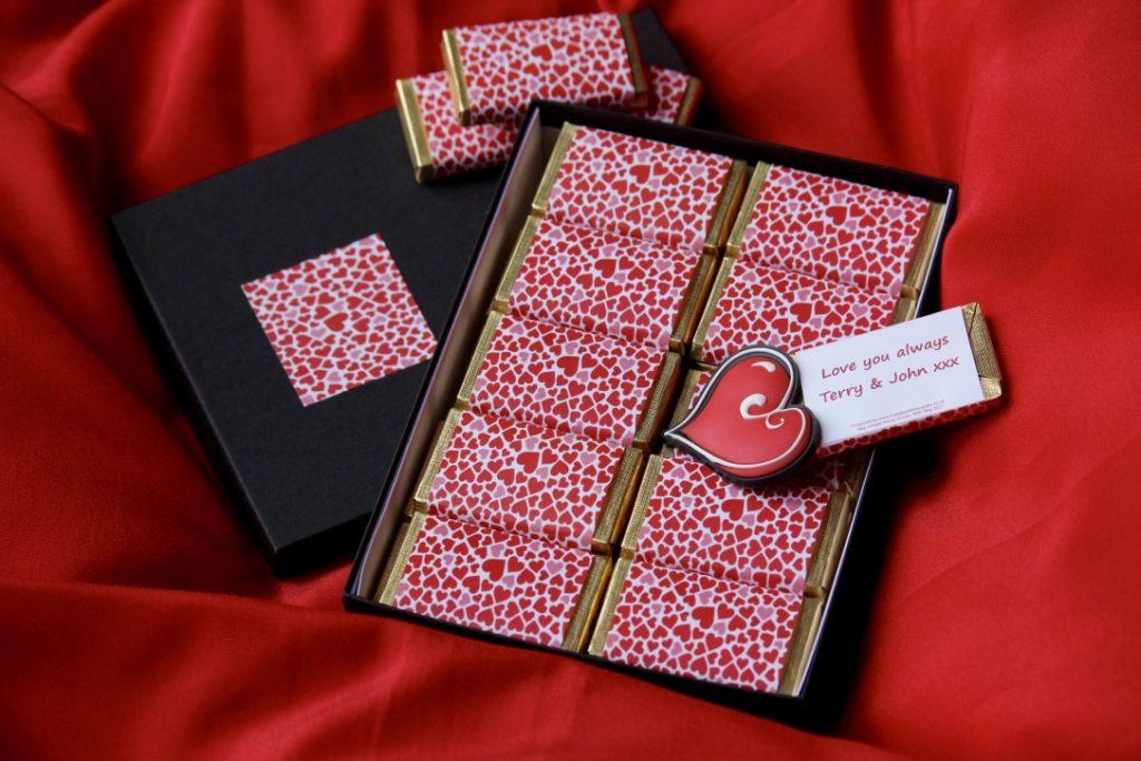 Personalised Valentine's Day chocolate gift