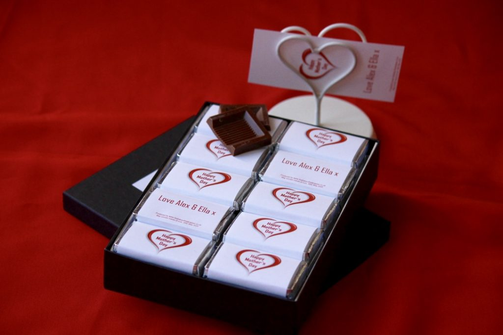 Personalised chocolate for Mother's Day