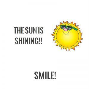 Smiley sun chocolate wrapper